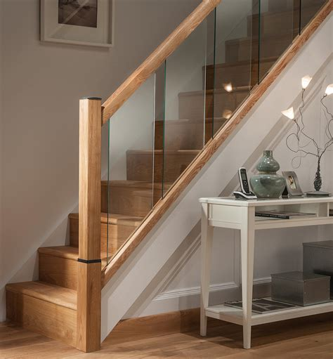 Glass Landing Banister by Reflections Glass Stair Landing Panels