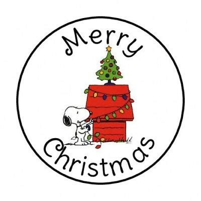 merry christmas snoopy envelope seals labels stickers   ebay