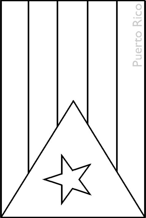 puerto rico flag free colouring pages