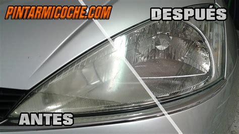 productos para pulir el coche como pulir faros de coche de forma facil y con resultados