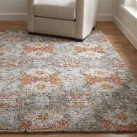 crate and barrell rug alvarez garden wool blend rug crate and barrel