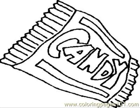 candybar coloring page free general foods coloring pages