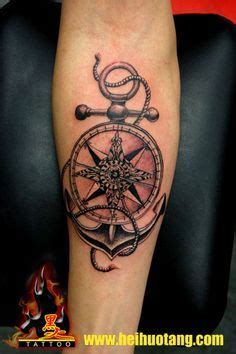 forearm tattoos pain nautical compass and anchor nautical compass n anchor