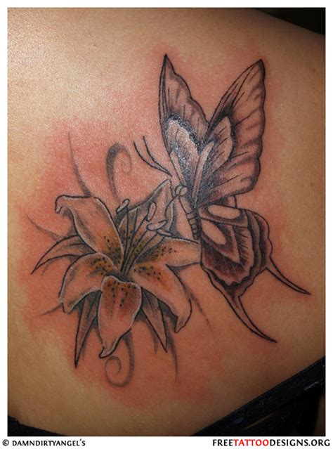 butterfly on flower tattoo designs butterfly gallery
