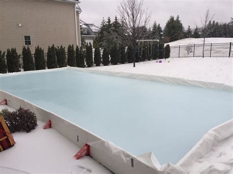 easy backyard ice rink backyard ice rink kits reviews ez ice hockey rink kit