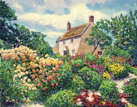Cottage Garden Paintings cottage garden by david lloyd