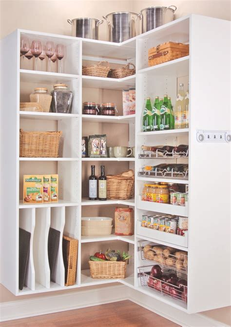 Kitchen Pantry Storage Systems Wood Wall Mounted Corner Kitchen Shelving Unit Painted