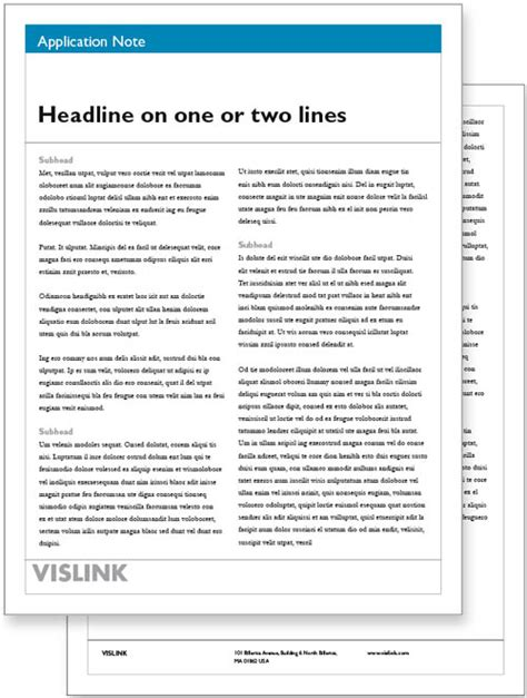 Vislink Document Resource Center White Paper Templates White Paper Template Microsoft Word