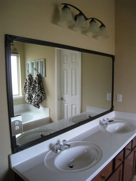 how to frame my bathroom mirror cheap bathroom mirror frame shanty 2 chic