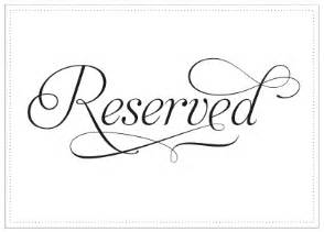 Reserved Cards For Tables Templates by 6 Best Images Of Printable Wedding Reserved Signs Free