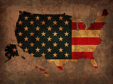 design art usa map of america united states usa with flag art on