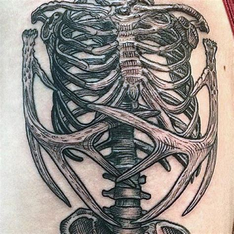 skeleton man tattoo 50 skeleton tattoos for spine tingling after