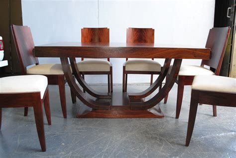 art deco dining table and six chairs at 1stdibs art deco dining table and 6 chairs cloud 9 art deco