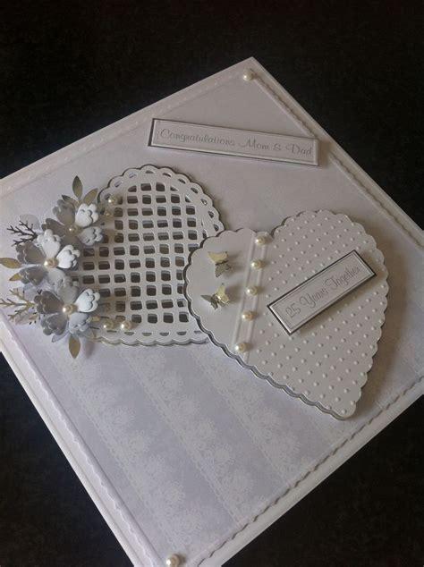 Handmade Silver Wedding Anniversary Cards - handmade silver anniversary card my handmade cards