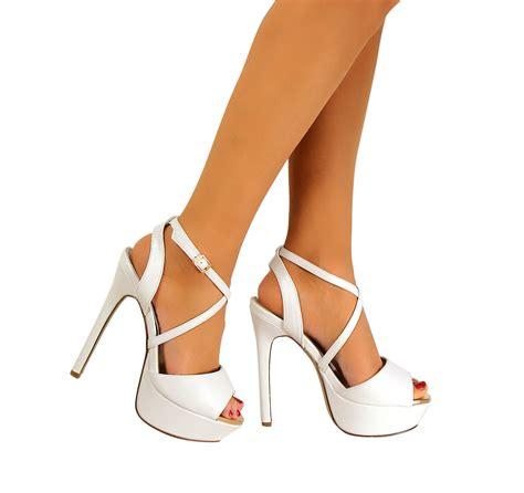 Sandal Heels Ip21 3 womens peep toe strappy platform stiletto high heel sandal shoes size 3 8 ebay