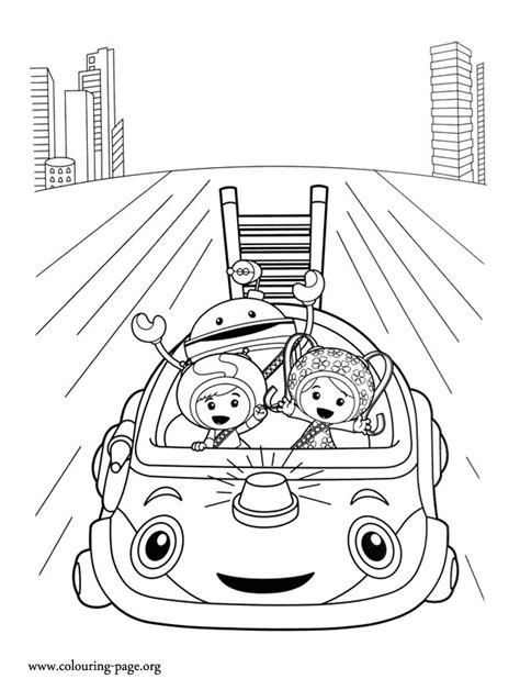 umi car coloring page team umizoomi milli geo bot and umi car coloring page