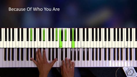 tutorial piano because of you because of who you are piano tutorial youtube