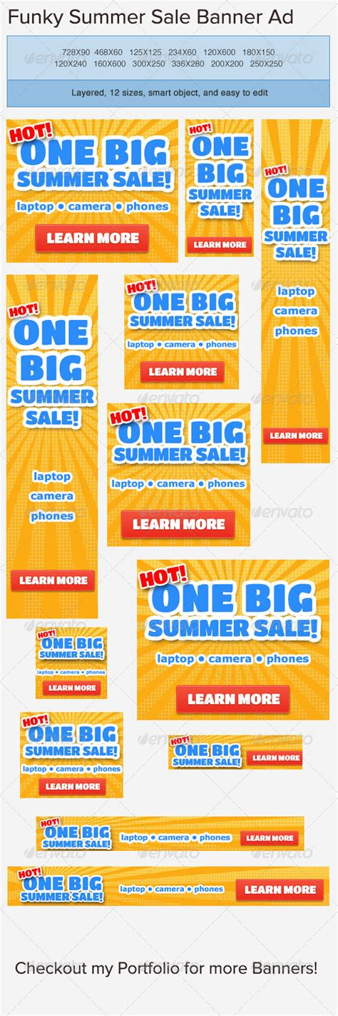 summer sale banner ad template by admiral adictus