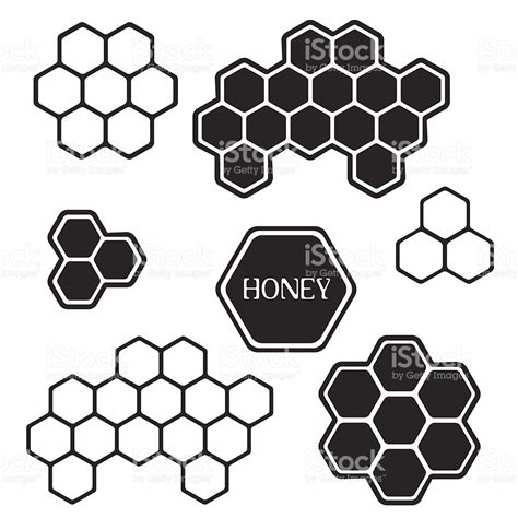 drawing honeycomb pattern honeycomb silhouette tags stock vector art 506653559 istock
