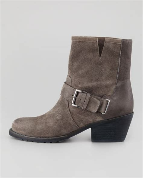 eileen fisher boots eileen fisher hitch buckled ankle boot ash in brown ash