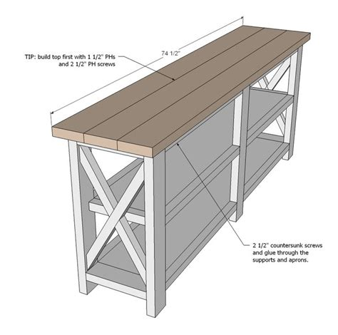 sofa table woodworking plans 25 best ideas about rustic console tables on