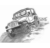 94 Jeep Wrangler Drawing By Crystal Suppes