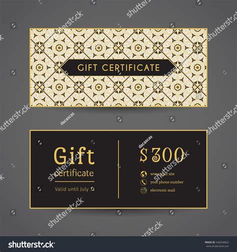vintage gift certificate template vintage ornamental gift certificate vector editable stock