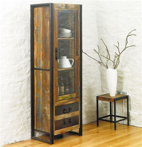 skinny cabinet with drawers furniture industrial wood and combo tall narrow