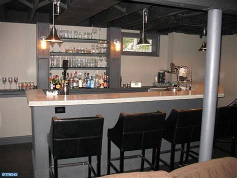basement back bar ideas industrial style basement bar