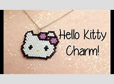 DIY Hello Kitty Seed Bead Brick Stitch Charm How To! ¦ The ... Kitty Corner