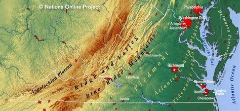virginia topographic map reference maps of virginia usa nations project