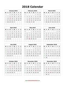 Calendar 2018 Printable Template Blank 2018 Calendar Weekly Calendar Template