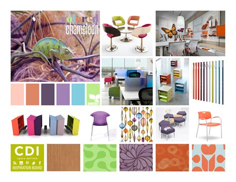 Home Office Interior Design Inspiration inspiration board colored chameleon cdi blog