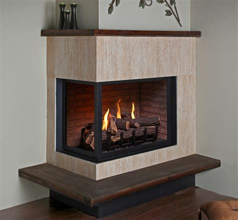 Sided Gas Log Fireplace by Montigo Traditional Gas Fireplaces Valley Place Inc