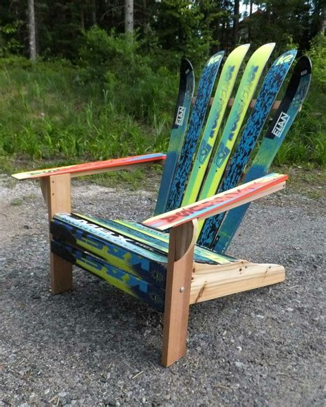 make adirondack chair from skis 9 best images about quot marla quot ski chairs on