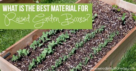 material  raised garden boxes weed em reap