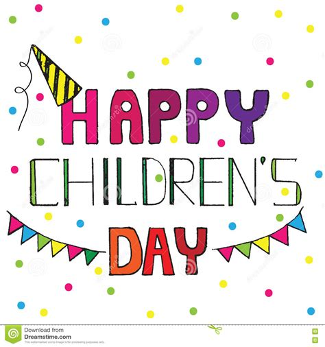 s day designs happy childrens day greeting card with multicolor circle