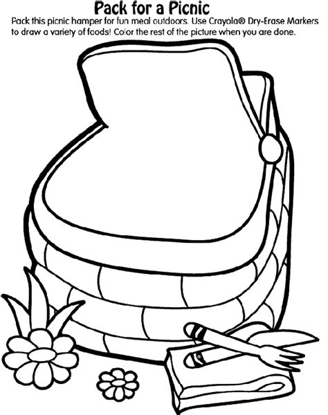 crayola coloring pages birthday pack a picnic coloring page crayola com
