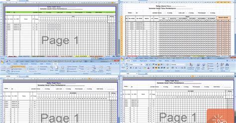 format rekap absensi absensi siswa rekap otomatis semester ganjil format excel