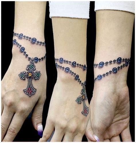 3d realistic rosary wrist tattoo tattooimages biz