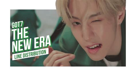 got7 the new era got7 the new era line distribution color coded 갓세븐