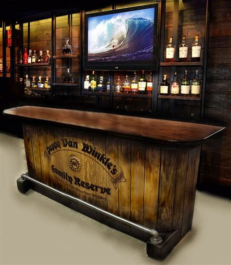 diy bar plans the man cave pinterest home bar custom hand built rustic whiskey pub man by