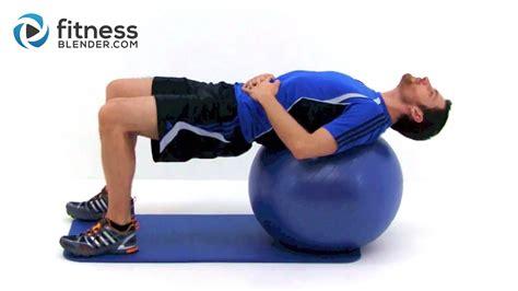 Yoga Ball For Desk Shoulder And Neck Exercises And Stretches Fitness Blender