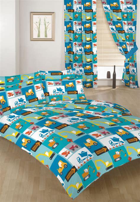 construction children s bed duvet cover set 2