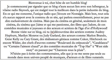 Lettre De Présentation De Soi En Anglais De 233 Die Musicale Hollywoodienne Sur Renouvellement D Un Genre Classique