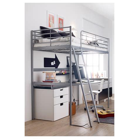 ikea silver bed frame sv 196 rta loft bed frame silver colour 90x200 cm ikea