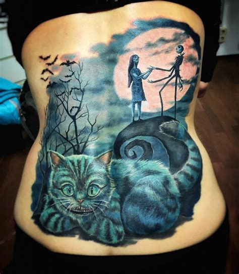 tim burton tattoo designs nightmare before back cover up best