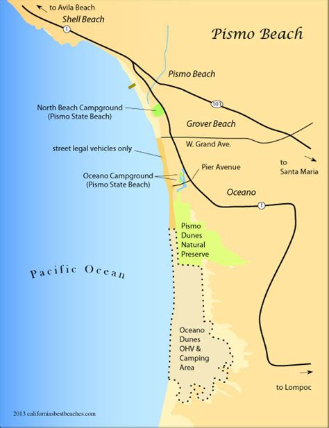 pismo california map 5 ways to dig the vibe in pismo ca wheeling it