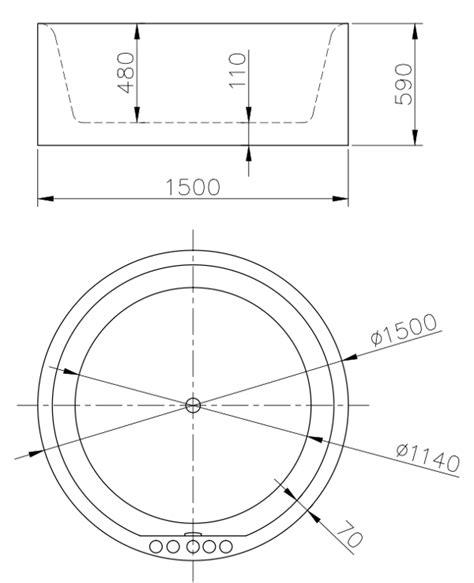 vasca dimensioni vasca da bagno ad appoggio circolare idra