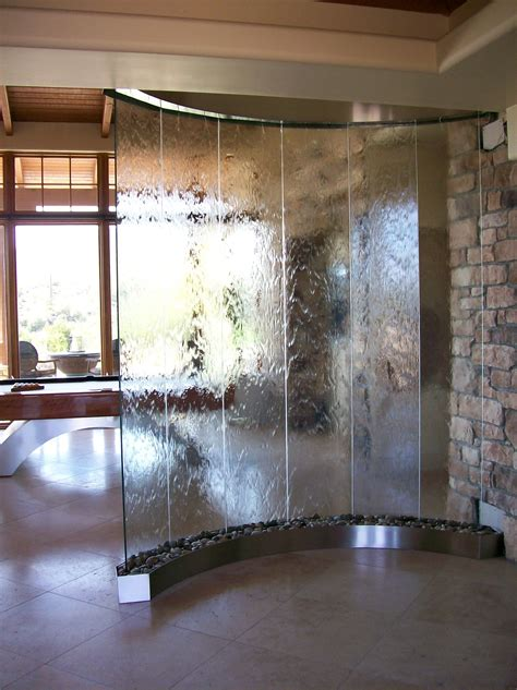 glass wall fountains indoor water fountains pinterest